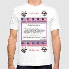 The star spangled banner 2 -america,usa,american flag,patriot, national anthem,stars and strips White SMALL Mens Fitted Tee