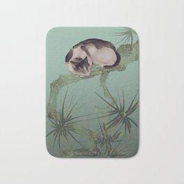 Cat In The Pines Bath Mat