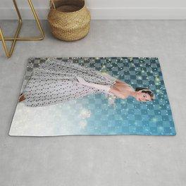 Audrey Hepburn, Fashion print, Vintage photography, Audrey Hepburn Poster, print, wall art, Hollywood  Rug