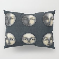 moon phases and textured darkness Pillow Sham