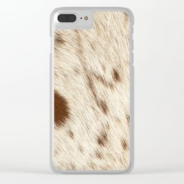 Pattern of a Longhorn bull cowhide. Clear iPhone Case