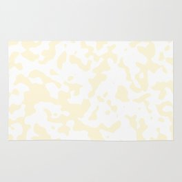 Spots - White and Cornsilk Yellow Rug