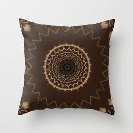Sequential Baseline Mandala 9 Throw Pillow