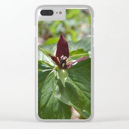Wake Robin Trillium Clear iPhone Case