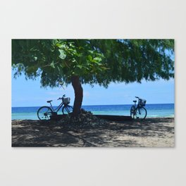 Beachside Bikes  Canvas Print