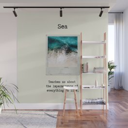 Small Emotional Dictionary: Sea Wall Mural