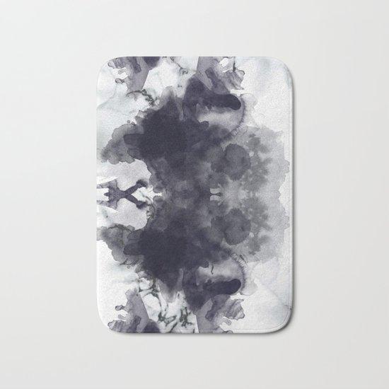 Smoke and marble abstract Bath Mat