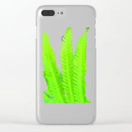 a green Fern Clear iPhone Case