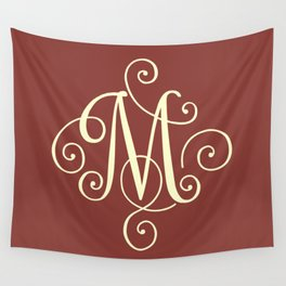 M Monogram - Red Wall Tapestry