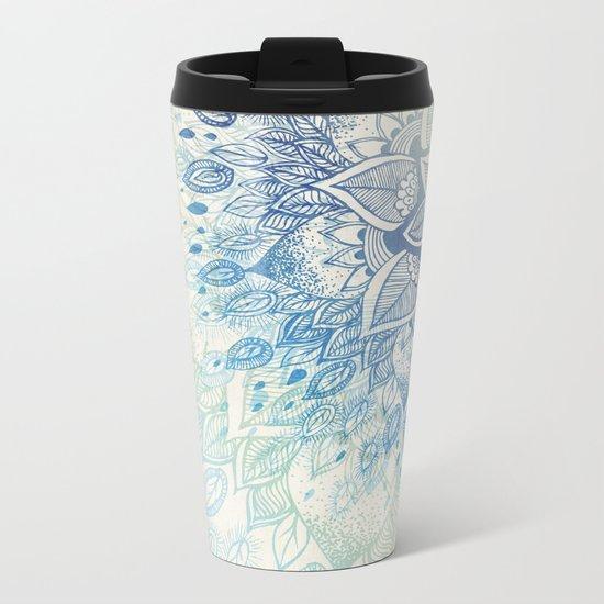 Dahlia Metal Travel Mug
