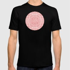 Pink Paisley Bandana MEDIUM Black Mens Fitted Tee
