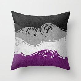 Asexual Ornamental Flag Throw Pillow