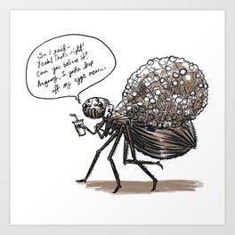 Spider-Mom Art Print