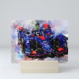 Sam Bird, Formula E Mini Art Print