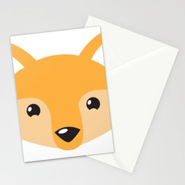 Little foxy face Stationery Cards