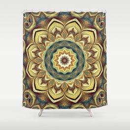 Flower Of Life Mandala (Native Flowers) Shower Curtain