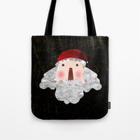 santa Tote Bags featuring Santa  by Inmyfantasia