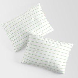 Thin Lines Mint Pillow Sham