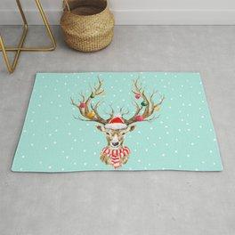Christmas Deer 4 Rug