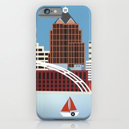 Rochester, New York - Skyline Illustration by Loose Petals iPhone Case