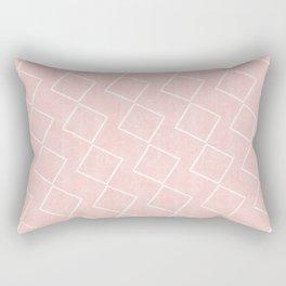 Tilting Diamonds in Pink Rectangular Pillow