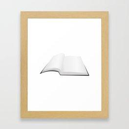 Open book Framed Art Print