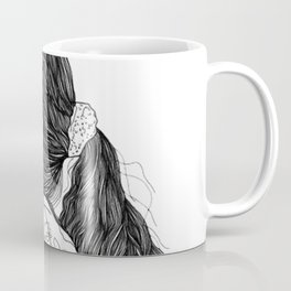Line Drawing Girl Coffee Mug