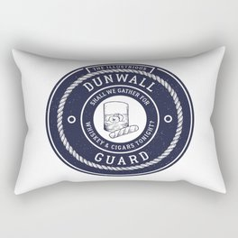 Whiskey & Cigars (Navy) Rectangular Pillow