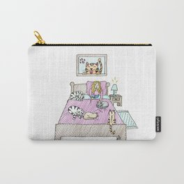 Cats bedtime Carry-All Pouch