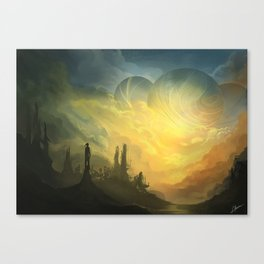 Heavy Sky Canvas Print