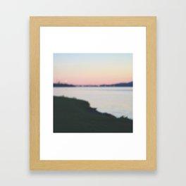 in the horizon Framed Art Print