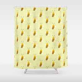 Cute Baby Bee Shower Curtain