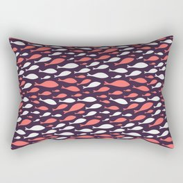 colorful fish seamless pattern design Rectangular Pillow
