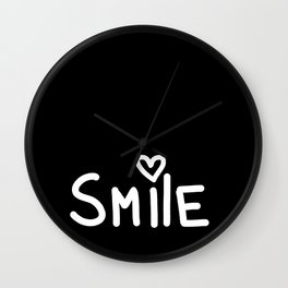Smile Black Wall Clock