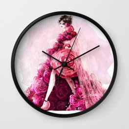 BOUQUET DRESS Wall Clock
