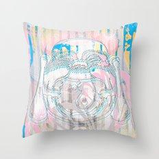 Buddha-Love & Butterfly Throw Pillow