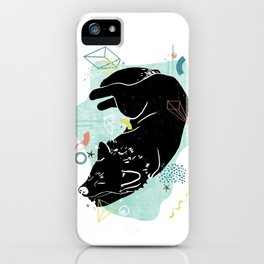 Dreaming wolf illustration iPhone Case