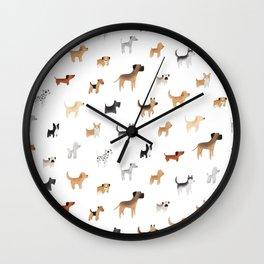 Lots of Cute Doggos Wall Clock