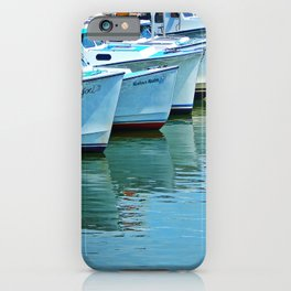 Boats Reflected iPhone Case