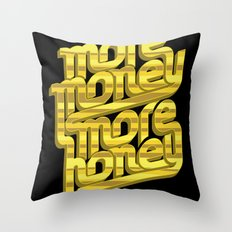 More Money, More Honey Throw Pillow