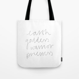Earth Goddess Warrior Priestess Tote Bag