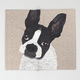 Boston Terrier 2015 Throw Blanket