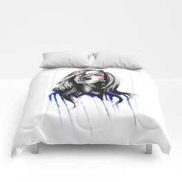 In Our Wildest Moments // Fashion Illustration Comforters