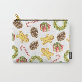 Christmas Watercolor Illustration Pattern Carry-All Pouch