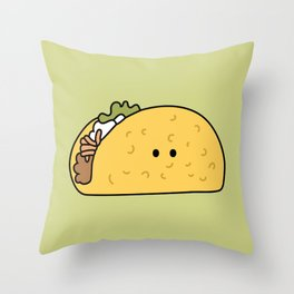Taco Friend Throw Pillow