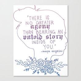 Maya Angelou- Untold Stories Canvas Print