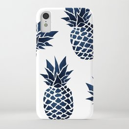 Pineapple Blue Denim iPhone Case