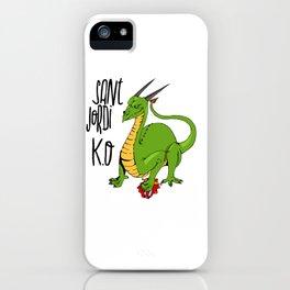 Sant Jordi K.O iPhone Case