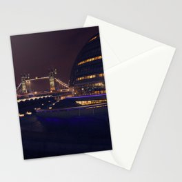 London Bridge at Night Stationery Cards