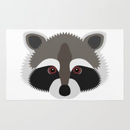 Raccoon Face Rug
